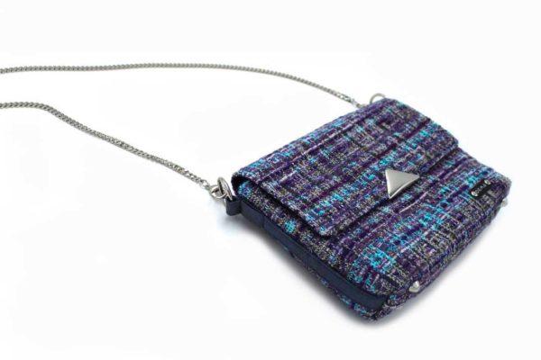 Sac à main femme vegan tweed piñatex violet